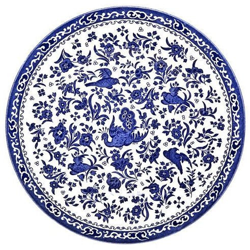 Burleigh Blue Regal Peacock Dinner Plate 25cm