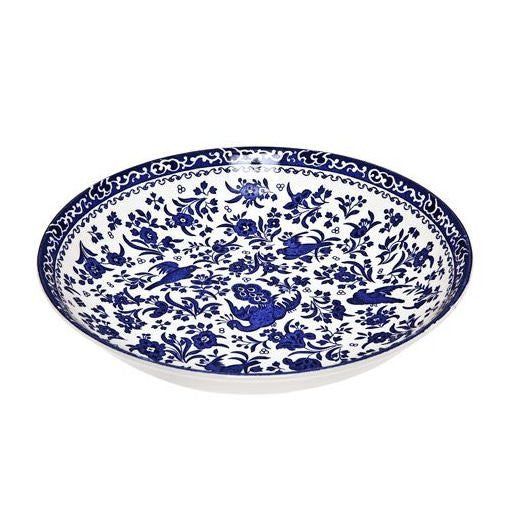 Burleigh Blue Regal Peacock Pasta Bowl 23cm