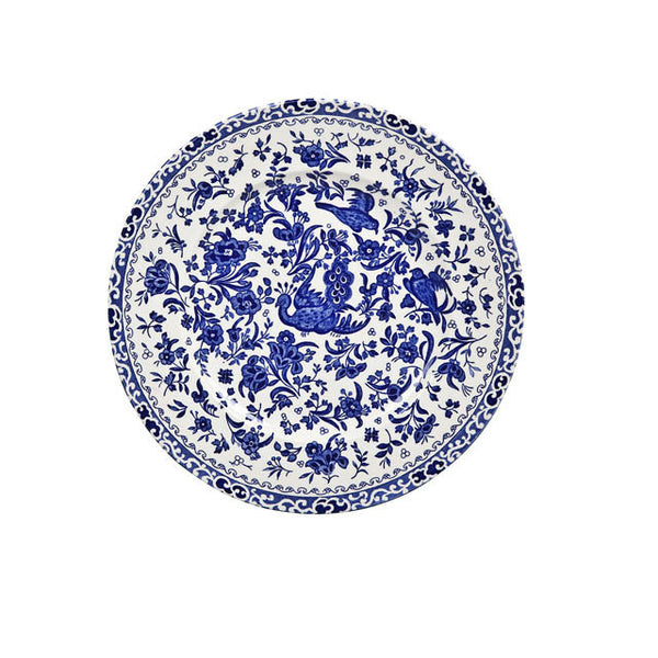 Burleigh Blue Regal Peacock Salad Plate 22cm