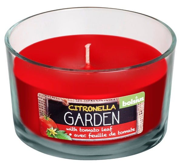 Bolsius April Rotation Citronella and Tomato Leaf Glassware Candle