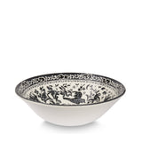 Burleigh Black Regal Peacock Cereal Bowl 16cm