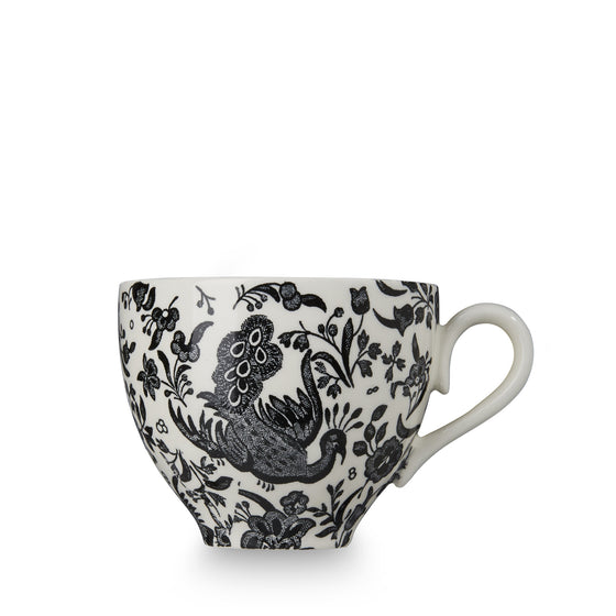 Burleigh Black Regal Peacock Breakfast Cup (Cup Only)
