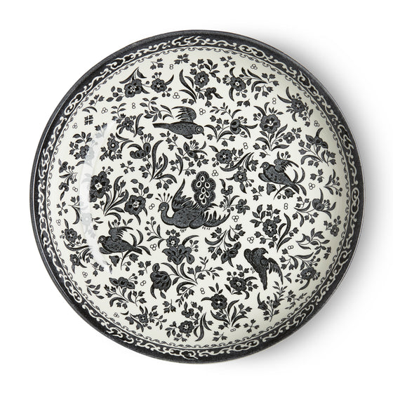 Burleigh Black Regal Peacock Pasta Bowl 23cm