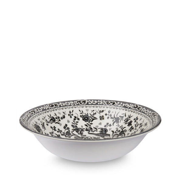 Burleigh Black Regal Peacock Soup Bowl 20.5cm