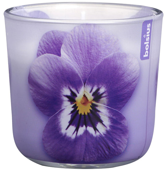 Bolsius Seasonal Lilac Violet Glassware Candle