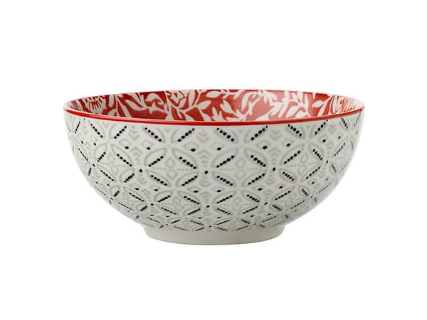 Maxwell and Williams Boho Red Damask Cereal Bowl 12.5cm