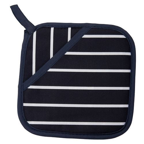 Rushbrookes Textiles Classic Butchers Stripe Navy Pot Holder 18cm