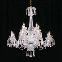 Waterford Crystal 12 Arm 240V Chandelier 96.5cm by 91 5cm