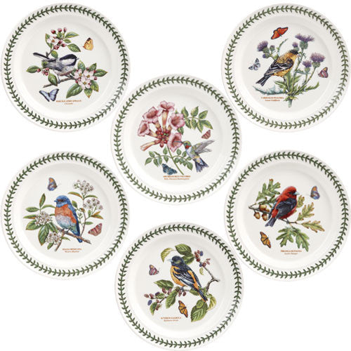 "Portmeirion Botanic Garden Birds Salad Plate 8"" / 21,5cm (One of Assorted Designs)"