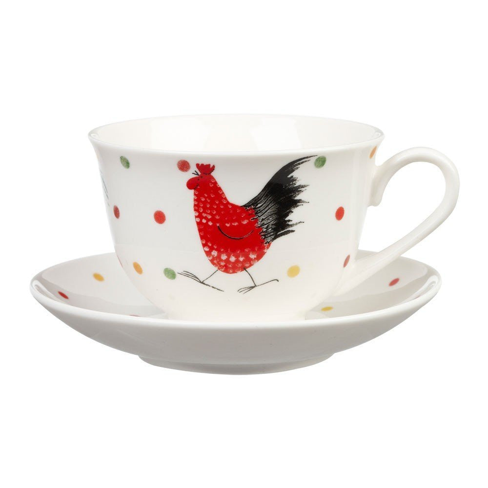 Alex Clark Rooster Stratford Teacup and Saucer 0.20L