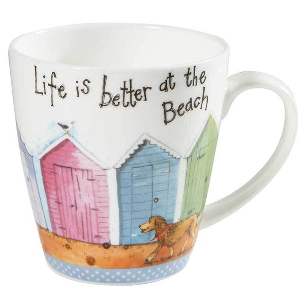 Churchill China Ac Sparkle Cherry Life Is Better Mug 0.36L