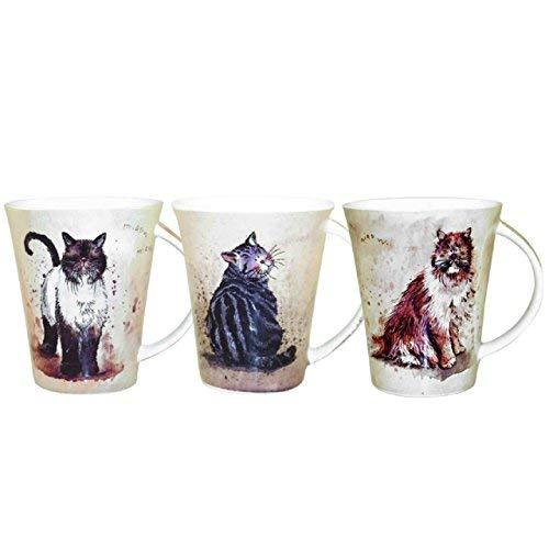 Alex Clark Cats Pack of Pair Mugs 0.37L (Assorted design)
