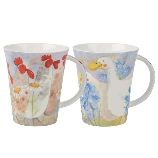 Alex Clark Flirt Hare Duck Chicken Mug 0.37L