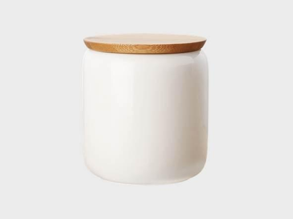 Maxwell and Williams White Basics Canister with Lid 0.90L