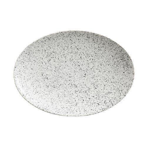 Maxwell and Williams Caviar Speckle Cream Oval Plate 30 by 22cm