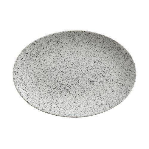 Maxwell and Williams Caviar Speckle Cream Oval Plate 25 by 25cm