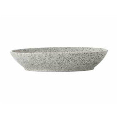 Maxwell and Williams Caviar Speckle Cream Oval Bowl 20 by 14cm
