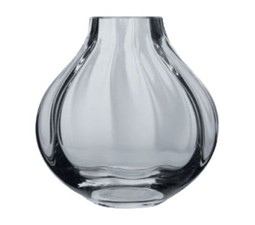 Dartington Crystal Lotus Squased Optic Vase