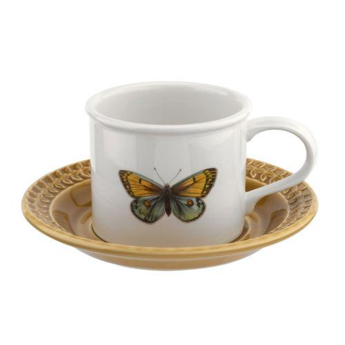 Portmeirion Botanic Garden Harmony Amber Breakfast Cup and Saucer 0.26L