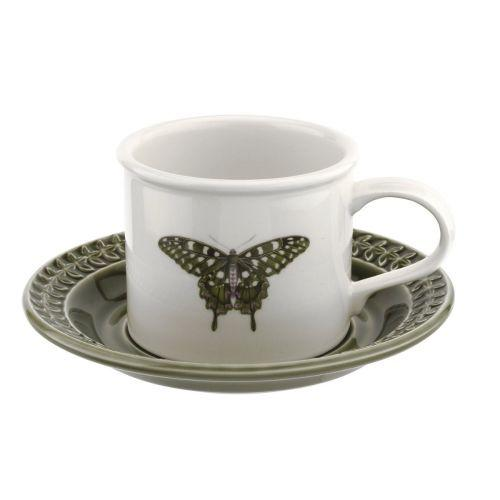 Portmeirion Botanic Garden Harmony Forest Green Breakfast Cup and Saucer 0.26L