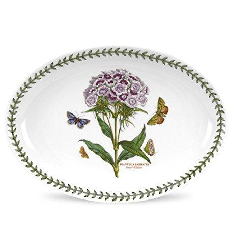 Portmeirion Botanic Garden Sweet William Oval Platter 11 Inch