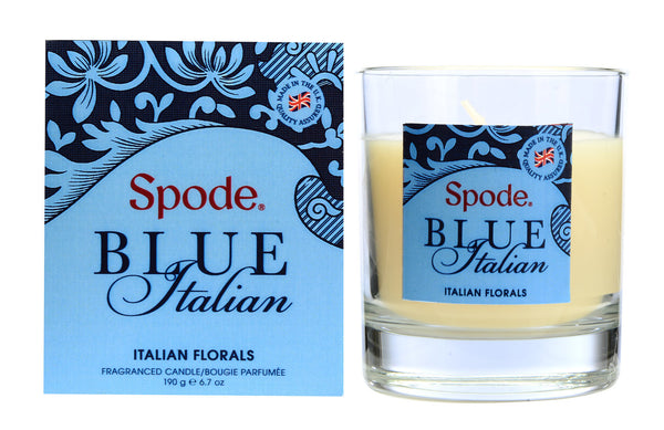 Spode Blue Italian Fragrance Italian Florals Glass Candle