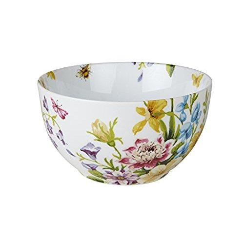 Katie Alice English Garden Porcelain White Floral Cereal Bowl
