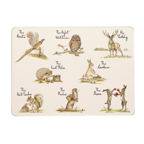 Churchill China Country Pursuits Rectangular Placemats 29cm by 21cm (Set of 6)