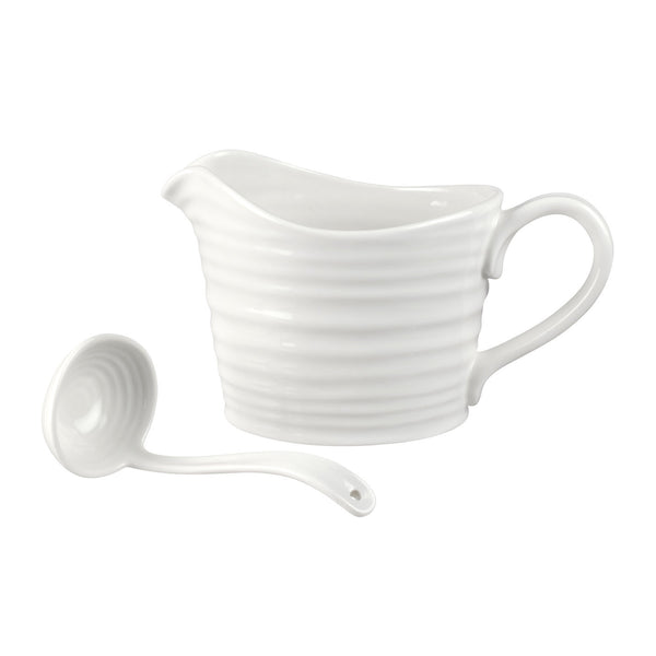 Portmeirion Sophie Conran White Sauce Jug and Ladle 0.60L