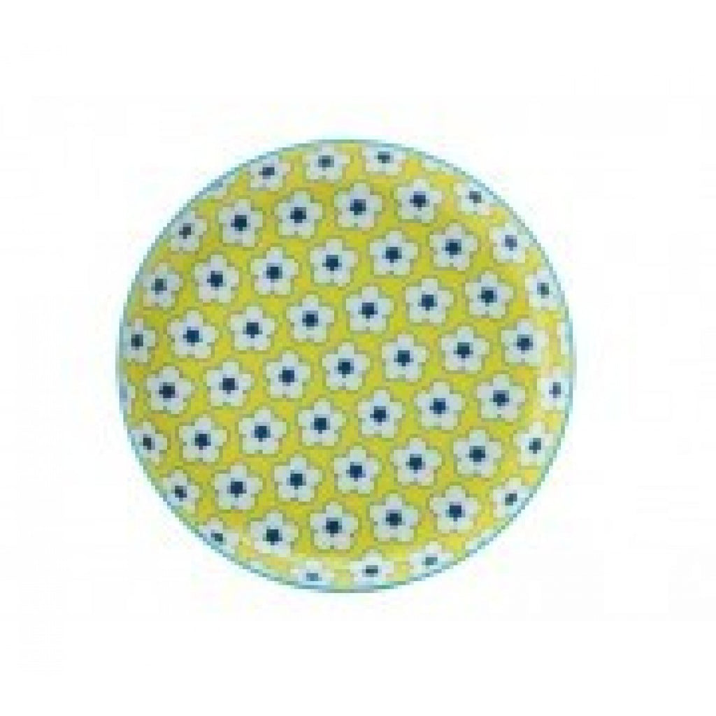 Christopher Vine Cotton Bud Yellow Tea Plate 18.5cm