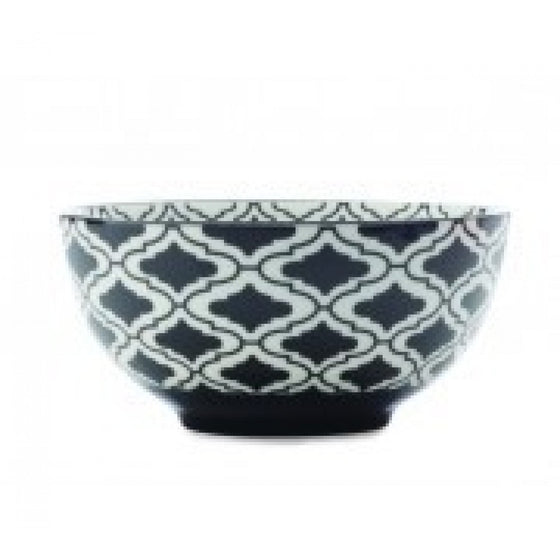 Christopher Vine Alcazar Black Kurv Cereal Bowl 15.5cm