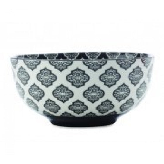Christopher Vine Alcazar Black Circle Cereal Bowl 18cm