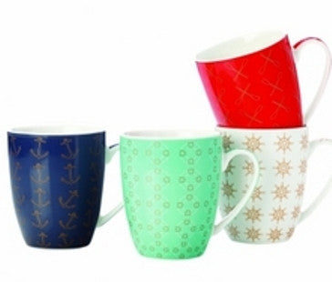 Maxwell and Williams Lost at Sea Mug 0.40L (Set of 4)