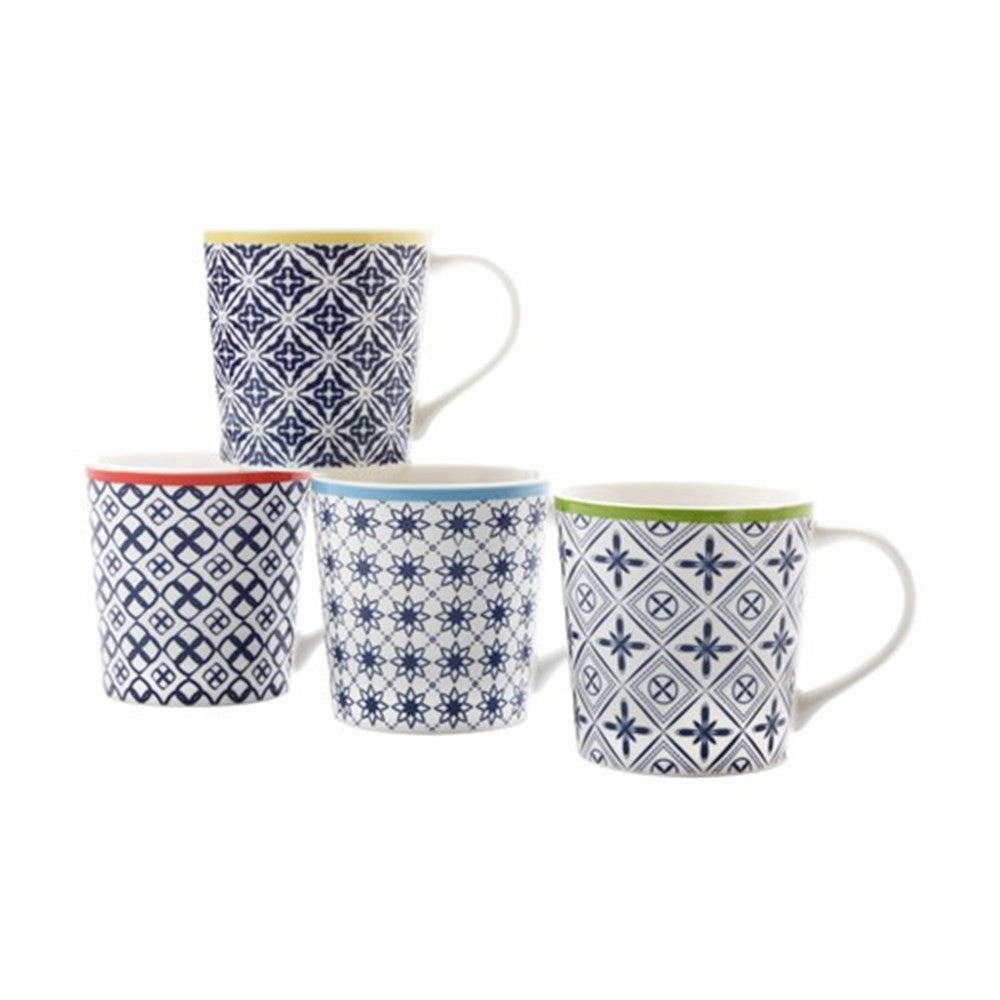 maxwell and williams luxor mug set of 4 china chaps. Black Bedroom Furniture Sets. Home Design Ideas