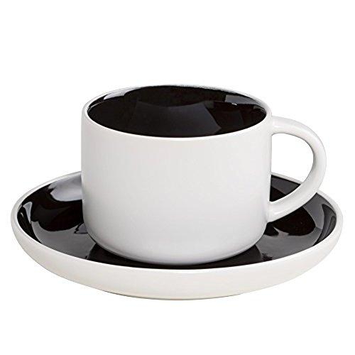 Maxwell and Williams Tint Black Teacup and Saucer 0.25L