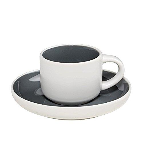 Maxwell and Williams Tint Charcoal Demi Cup and Saucer 0.10L