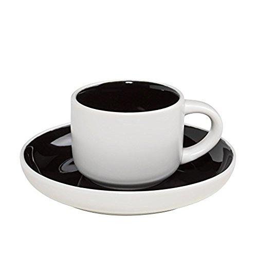 Maxwell and Williams Tint Black Demi Cup and Saucer 0.10L