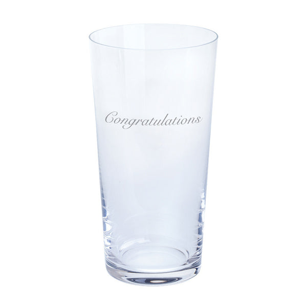 Dartington Crystal Just For You Congratulations Pint Glass 0.55L (Single)