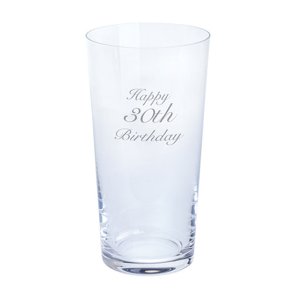 Dartington Crystal Just For You Happy 30th Birthday Pint Glass 0.55L (Single)
