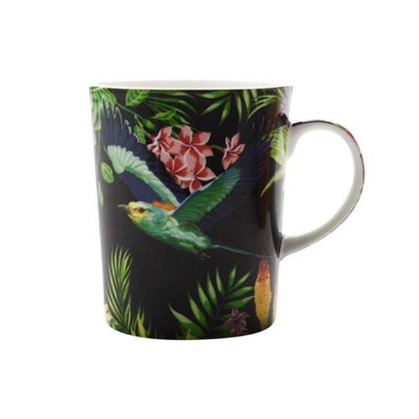 Maxwell and Williams Cashmere Birds of Paradise Black Mug 0.33L