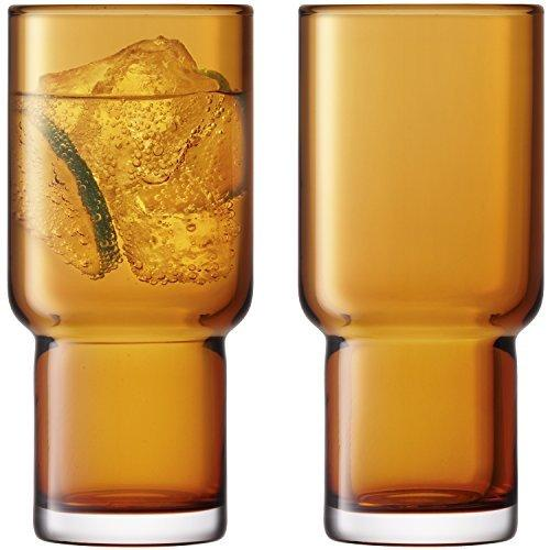 LSA Utility Amber Highball 0.39L (Set of 2)