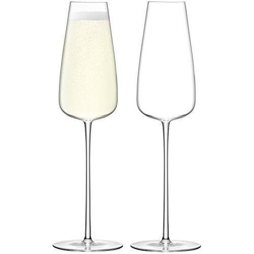 LSA Wine Culture Clear Champagne Flute 0.33L (Set of 2)