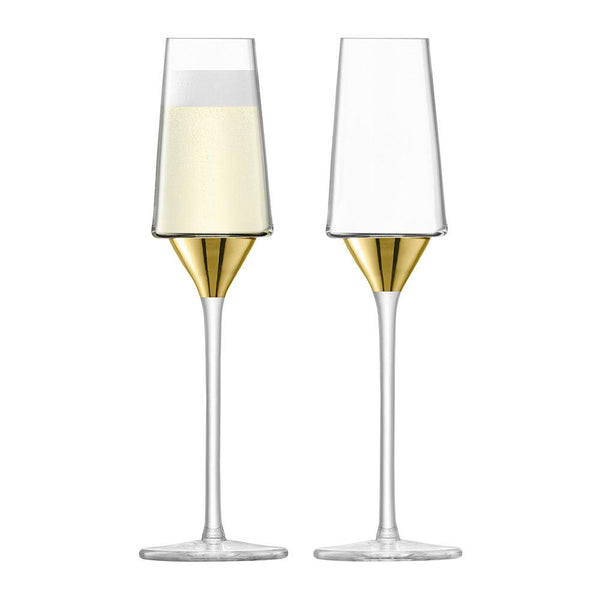 LSA Space Gold Champagne Flute 210ml (Set of 2)