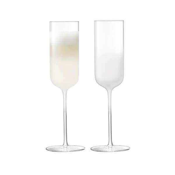 LSA Mist Part Frost Champagne Flute 225ml (Set of 2)