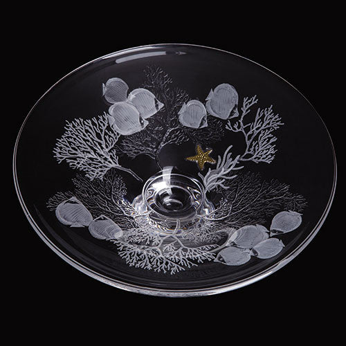Dartington Crystal Gallery Small Shoal Platter