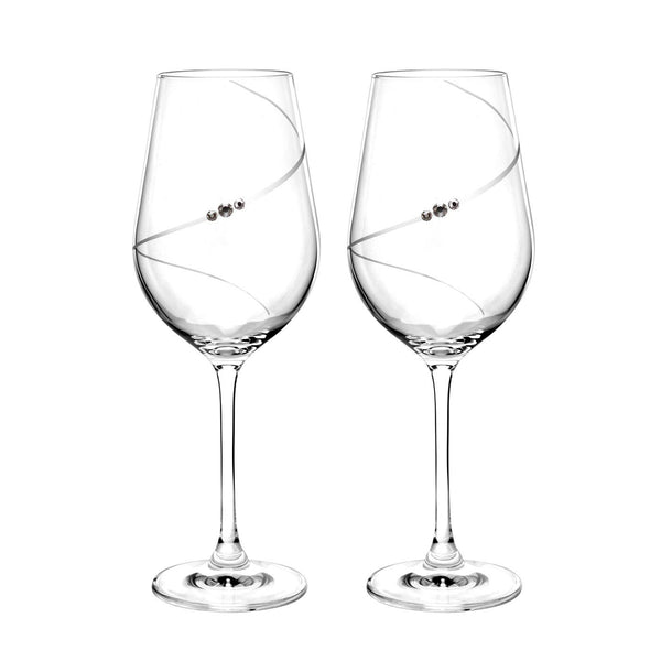 Portmeirion Auris Crystal Red Wine Glass 0.47L (Pair)