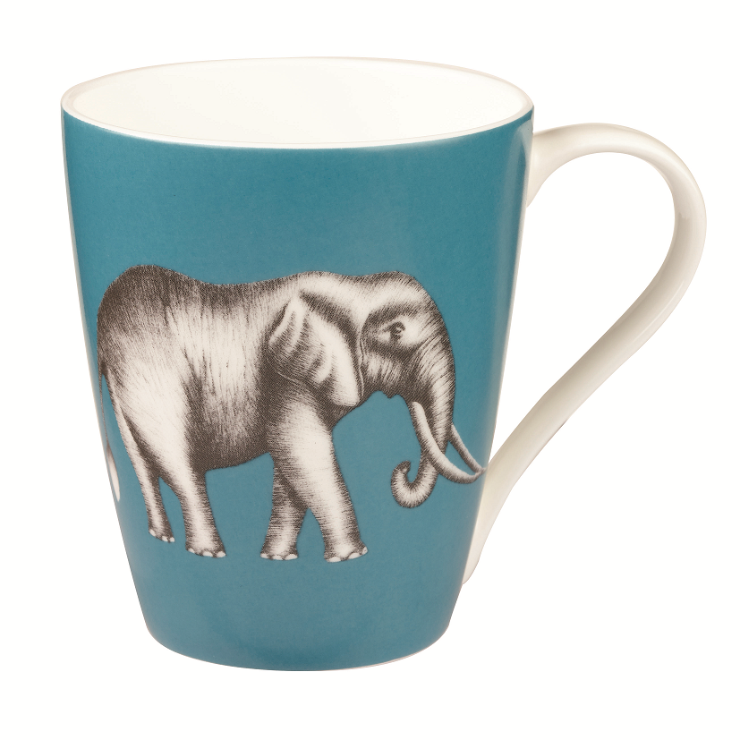 Churchill China Harlequin Savanna Elephant Lagoon Mug 0.43L
