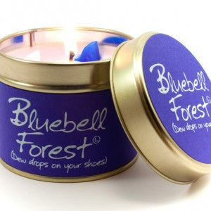 Lily Flame Bluebell Forest Tin Candle