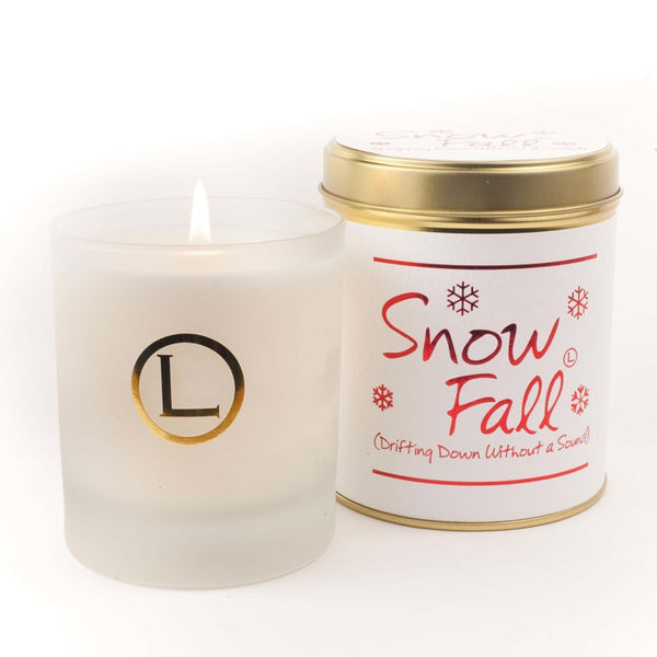 Lily Flame Snowfall Glassware Candle