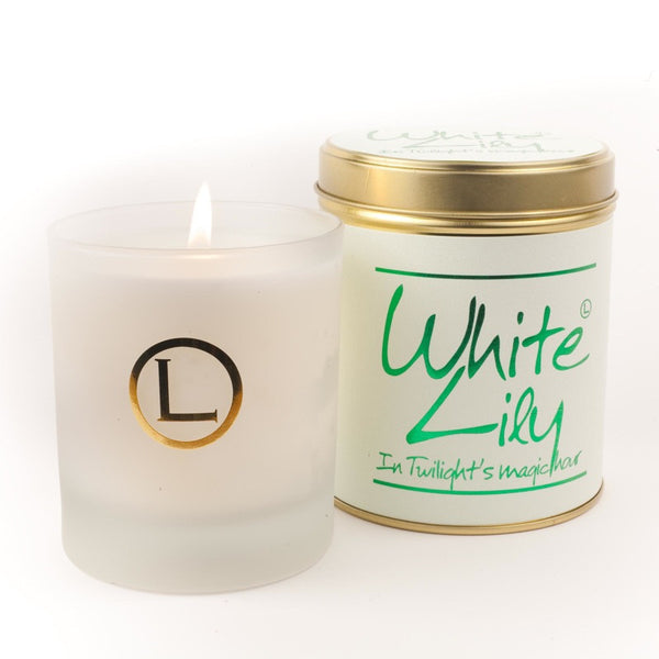 Lily Flame White Lily Glassware Candle